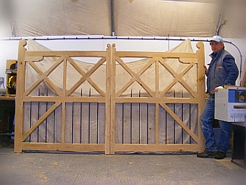 Security gates, classic style, steel rods, timber gates, farm gates,